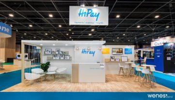 Stand d'exposition de la marque Hipay