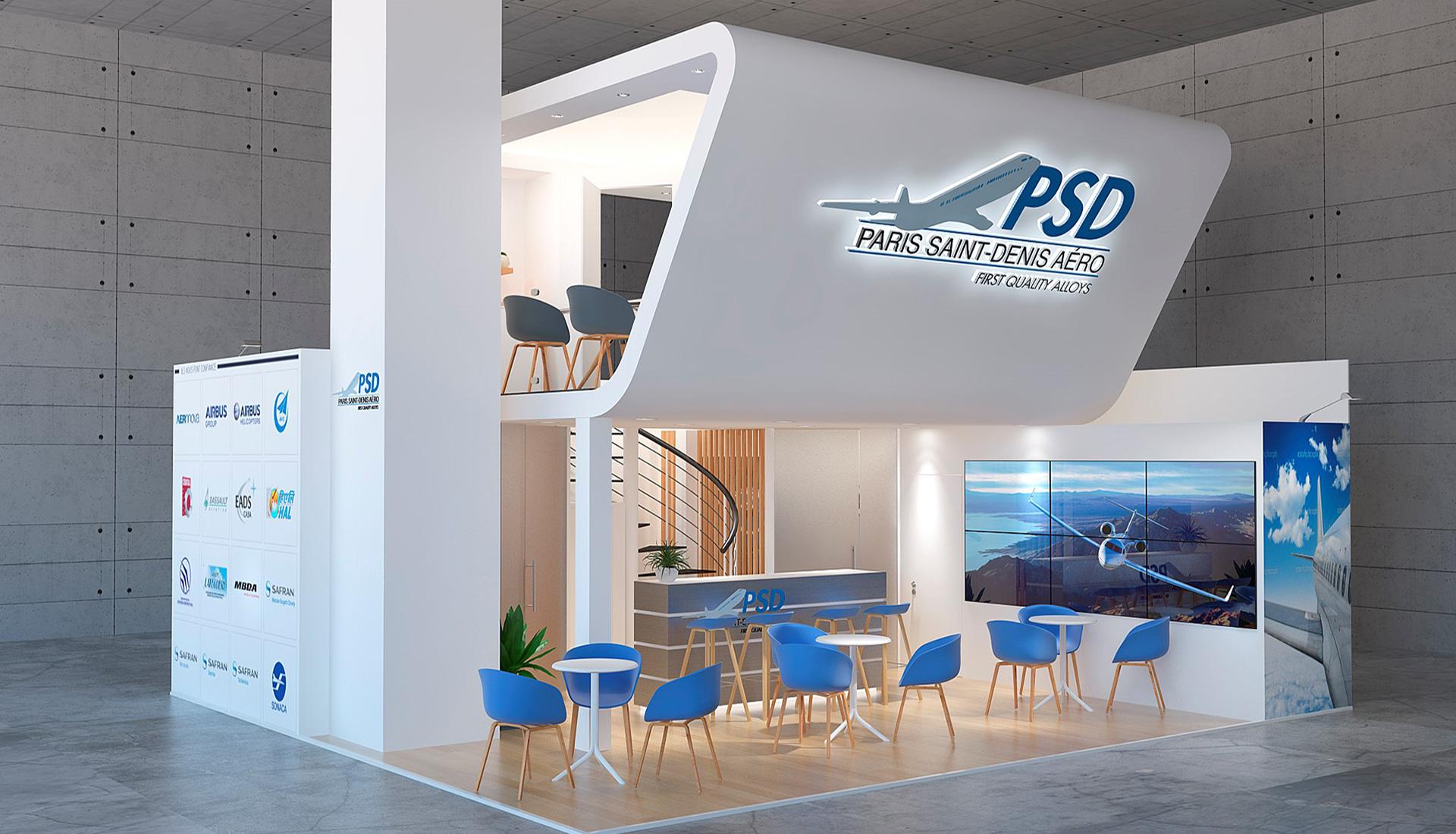 Design du stand PSD au salon SIAE